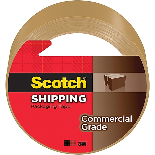 """Scotch® Commercial Grade Shipping Packing Tape, 1.88""""W x 54.6 Yards, Tan (3750T)"""