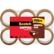 "Scotch® Commercial Performance Packing Tape, Tan, 1.88""W x 54.6 Yards, 6 Rolls (3750T-6)"