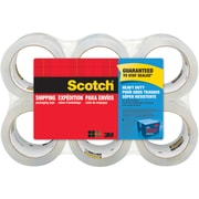 "Scotch® Heavy-Duty Shipping Packing Tape, Clear, 1.88""W x 54.6 Yards, 6 Rolls (3850-6-ESF)"