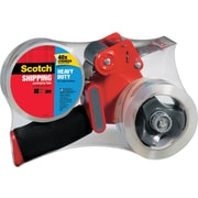 "Scotch® Heavy Duty Shipping Packaging Tape with Heavy Duty Dispenser, 1.88"" x 54.6 yds., Clear (3850-2ST)"
