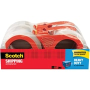 "Scotch® Heavy Duty Shipping Packing Tape, 1.88""W x 54.6 Yards, Clear, 4 Rolls (3850-4RD)"