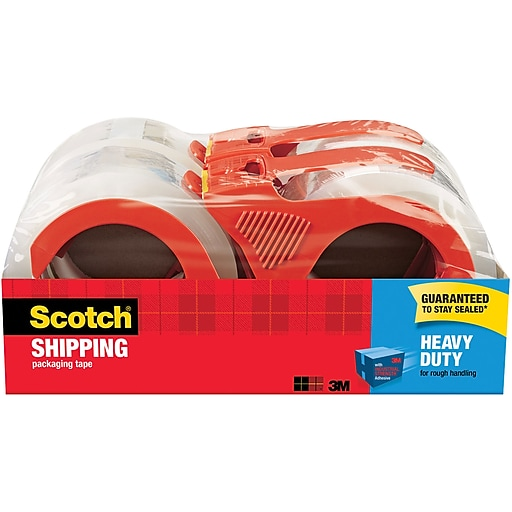 """Scotch® Heavy Duty Shipping Packing Tape, 1.88""""W x 54.6 Yards, Clear, 4 Rolls (3850-4RD)"""