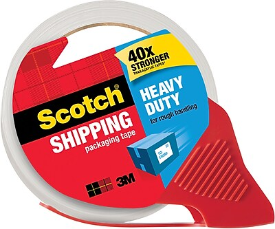 Scotch® Heavy Duty Shipping Packaging Tape with Dispenser, 1.88