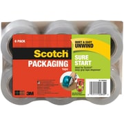 "Scotch® Sure Start Shipping Packing Tape, 1.88""W x 25 yds., Clear, 6 Rolls (DP-1000RF6)"