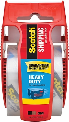 Scotch® Heavy Duty Shipping Packing Tape with Dispenser, 1.88