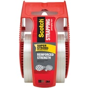 "Scotch® Reinforced Strength Shipping Strapping Tape with Dispenser, 1.88""W x 10 Yards (50)"