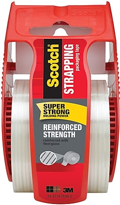 Scotch Heavy Duty Strapping Tape with Dispenser, 1.88