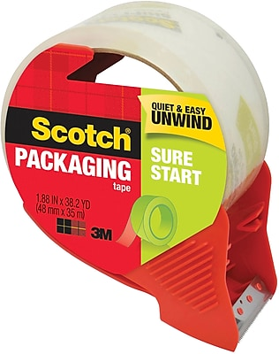 145 Scotch Sure Start Shipping Packaging Tape with Dispenser