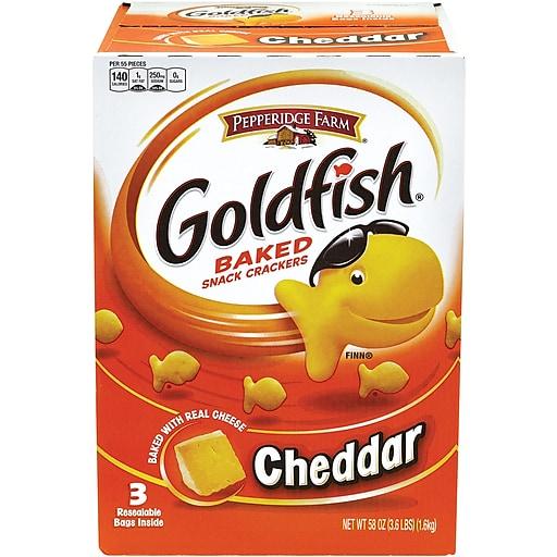 Pepperidge Farm Goldfish Crackers, Cheddar, 58 Oz  (220-00430)
