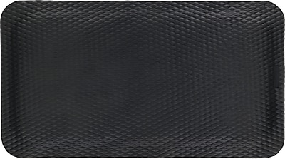 Hog Heaven Nitrile Rubber Anti-Fatigue Floor Mat, Black, 5/8