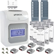 uPunch Electronic Calculating Punch Card Time Clock Bundle (UB2000)