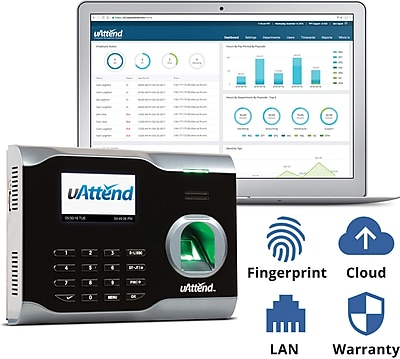 uAttend BN6000SC Cloud-Connected Fingerprint Time Clock (BN6000SC)