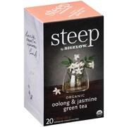 Steep by Bigelow Organic Oolong and Jasmine Green Tea, 20 Tea Bags/Box (RCB17714)