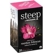 Steep by Bigelow Organic Rooibos Hibiscus Herbal Tea, Caffeine Free, 20 Tea Bags/Box (RCB17713)