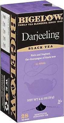 Bigelow® Darjeeling Tea, Black Tea from India, 28 Tea Bags/Box (RCB003491)