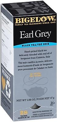 Bigelow® Earl Grey, Black Tea w/ Oil of Bergamot, 28 Tea Bags/Box (RCB003481)