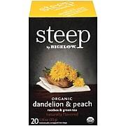 Bigelow Steep Dandelion & Peach Green & Rooibos Tea Bags, 20/Box (17715)