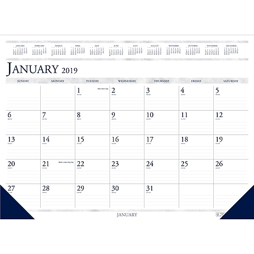 House of Doolittle 2019 Monthly Two Color Desk Pad Calendar 18.5 x 13 Inches (HOD1506)