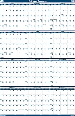 House of Doolittle 2019 Laminated Reversible Wall Planner Calendar 32 x 48 Inches (HOD3961)