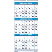House of Doolittle 2019 Three Month Wall Calendar 8 x 17 Inches (HOD3646)