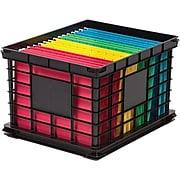 Staples® File Storage Plastic Crate, Letter/Legal Size, Black (STP-54270)