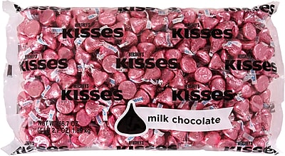 KISSES Milk Chocolates, Pink, 66.7 Oz. (HEC33434)