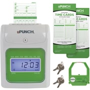 hn5200 upunch electronic auto align punch card time clock hn5200 - Time Card Punch