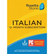 Rosetta Stone Italian for 1 User, 12 month License, Windows and Mac Download (SFJPMCHCRQUFJ3A)