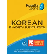 Rosetta Stone Learn Korean for 1 User, 12 month License, Windows and Mac Download (YUD32JCAYFD62VD)