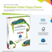 "Hammermill  Color Copy Digital Cover Stock, Photo White, 8 1/2""(W) x 11""(L), 250 Sheets"