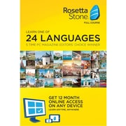 Rosetta Stone English (American) 12 Month Subscription for Windows/Mac 1-2 Users, Download (MTD224495CMPCQC)