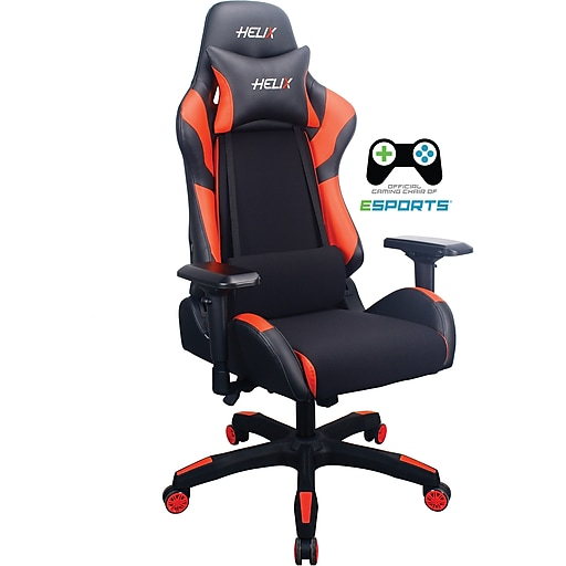 Staples Helix Gaming Chair With Cooling Technology Red