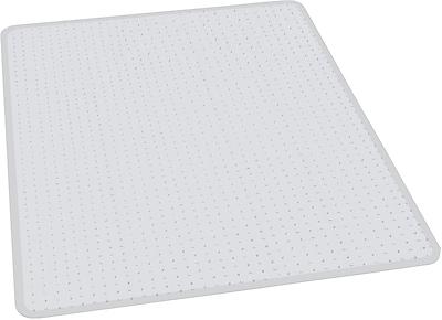 ES Robbins Anchormat™ Chairmat, For High Pile Carpets, No Lips, Rectangular, 46