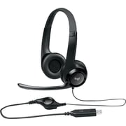 Logitech H390 USB Wired PC Headset for Internet Calls and Music (981-000014)