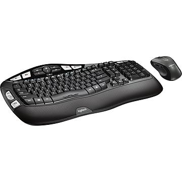 Logitech MK550 Optical Wireless Desktop Wave Keyboard and Laser Mouse Combo, Black (920-002555/0264)