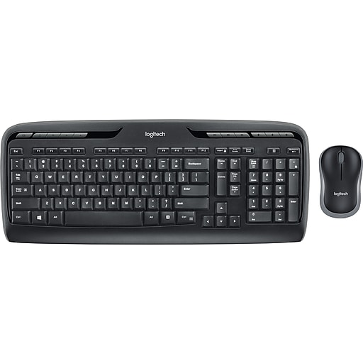 Logitech MK320 Full-Size Wireless Multimedia Keyboard and Optical Mouse Combo (920002836) | Staples