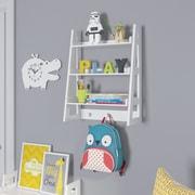 "RiverRidge 3-Shelf 26"" Kids Ladder Wall Shelf, White (02-154)"