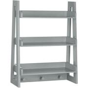 "RiverRidge 3-Shelf 26"" Kids Ladder Wall Shelf, Gray (02-155)"