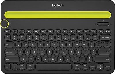 Logitech K480 Wireless Bluetooth Keyboard, Multi-Device, Black (920-006342)