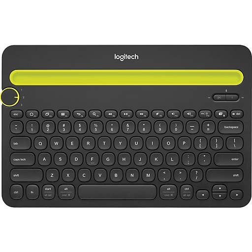 667b00443b9 Logitech K480 Wireless Bluetooth Compact Multi-Device Keyboard for Computers,  Tablets and Smartphones, Black (920-006342) | Staples