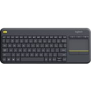 Logitech K400 Plus Wireless Touch Keyboard with Built-in Trackpad, Black (920-007119)