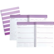 """2019 Staples® Large Weekly/Monthly Planner, 12 Months, 8"""" x 11"""", Purple Stripes (26253-19)"""