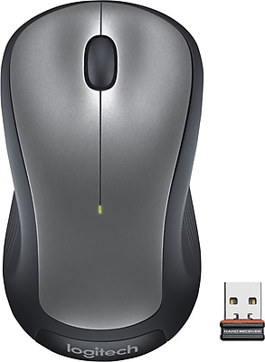 Logitech M310 Laser Wireless Ambidextrous Mouse, Black/Silver (910-001675)