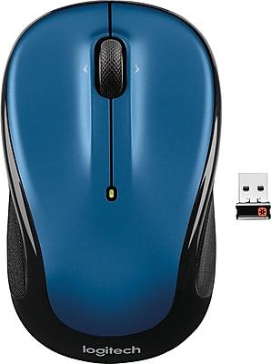 Logitech M325 Optical Wireless USB Mouse, Blue (910-002650)