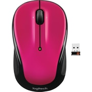 Logitech M325 Optical Wireless Ambidextrous Mouse, Brilliant Rose (910-003121)