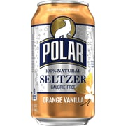 Polar® Orange Vanilla Seltzer, 12 oz. Cans, Pack of 24 (1000261)