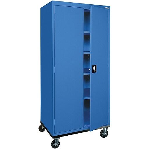 """Sandusky 72""""H Transport Steel Storage Cabinet with 4 Adjustable Shelves, Blue (TA4R302460-06)"""