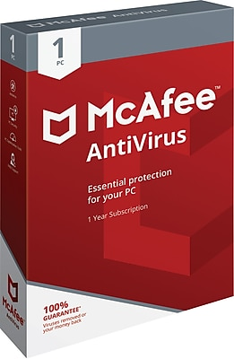 McAfee® AntiVirus 2018 Software, 1 User, Windows (MAB00ENR1RAA)