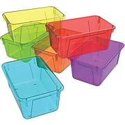 "Storex 5.1""H x 7.8""W Plastic Small Cubby Bin, Assorted Candy, 5/CT (62490U05C)"