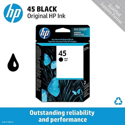hp 45 black ink cartridge 51645a staples. Black Bedroom Furniture Sets. Home Design Ideas